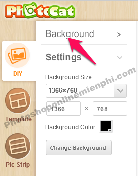 Các tùy chọn thêm sau khi nhấn nút Settings