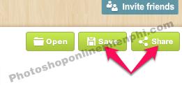 Nhấn nút Share góc trên cùng bên phải